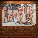 Hayden Panettiere Bikini  Art Poster Print  36x24 inch
