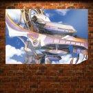 Farenheit Airship S Art Poster Print  36x24 inch