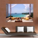 Vacation Room  Art Poster Print  36x24 inch