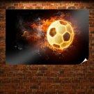 Fire Ball  Art Poster Print  36x24 inch