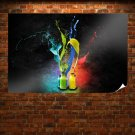 Abstract Colors  Art Poster Print  36x24 inch