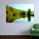 Nature Lake Hd  Art Poster Print  36x24 inch