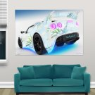 Lotus Car For Girls  Art Poster Print  36x24 inch