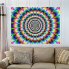 Optical Illusion  Art Poster Print  32x24 inch
