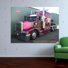 Pink Rose Peterbilt  Art Poster Print  32x24 inch