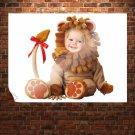 Sun Flower Cute Baby  Art Poster Print  32x24 inch