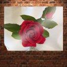 Pretty Red Rose  Art Poster Print  32x24 inch