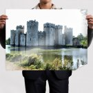 Stone Castle  Art Poster Print  32x24 inch