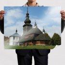 Wood Church  Art Poster Print  32x24 inch