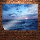 Beach Sunrise  Art Poster Print  32x24 inch