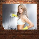 Cleanup Girl  Art Poster Print  32x24 inch
