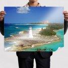 Paradise Island Nassau Bahamas  Art Poster Print  32x24 inch