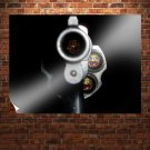 Gun Full Of Awesome  Art Poster Print  32x24 inch