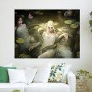 Cg Girls And Python  Art Poster Print  32x24 inch