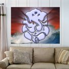 Light Ganesh  Art Poster Print  32x24 inch
