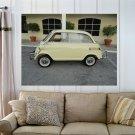 1958 Bmw Isetta 600 Limo  Art Poster Print  32x24 inch