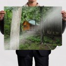 Cabin In The Woods  Art Poster Print  32x24 inch