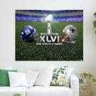 Super Bowl Xlvi  Art Poster Print  24x18 inch