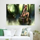 Forest Lady  Art Poster Print  24x18 inch
