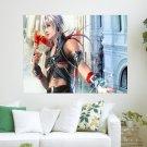 White Hair Boy  Art Poster Print  24x18 inch