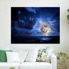 Full Moon  Art Poster Print  24x18 inch
