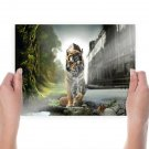 Abstract Tiger  Art Poster Print  24x18 inch