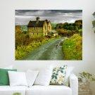 Water Cottage Darwen  Art Poster Print  24x18 inch