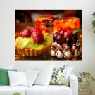 Delicious Food  Art Poster Print  24x18 inch