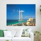 Al Jumeirah Dubai  Art Poster Print  24x18 inch