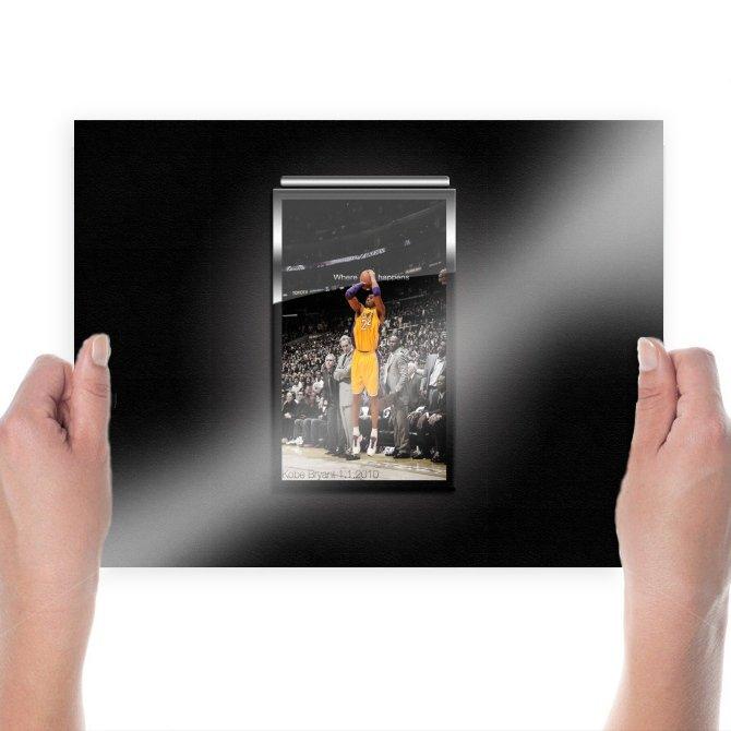 Kobe Bryant Game Winner  Art Poster Print  24x18 inch