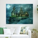 House In The Sky  Art Poster Print  24x18 inch