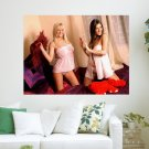 Lucy Pinder And Michelle Marsh  Art Poster Print  24x18 inch