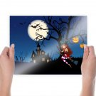 Halloween Witch  Art Poster Print  24x18 inch
