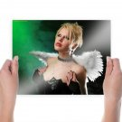 Gothic Blonde Vampire Girl  Art Poster Print  24x18 inch