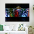 World Of Warcraft   Fanart By Jian Guo Widescreen  Art Poster Print  24x18 inch