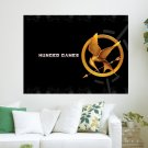 Mockingjay Pin  Art Poster Print  24x18 inch