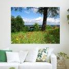 Beautiful Field  Art Poster Print  24x18 inch