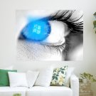 Windows In Your Eyes  Art Poster Print  24x18 inch