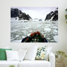 Antarctic Travels  Art Poster Print  24x18 inch
