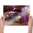Dodge Charger Srt8 2012  Art Poster Print  24x18 inch