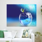 World Out Of Water  Art Poster Print  24x18 inch