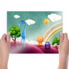 Abstract Zoo  Art Poster Print  24x18 inch