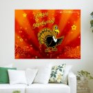 Happy Thanksgiving Day  Art Poster Print  24x18 inch