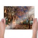 Beautiful Padestrian Walkway Hdr  Art Poster Print  24x18 inch