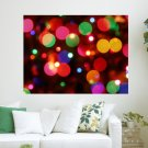 Holiday Lights S Art Poster Print  24x18 inch