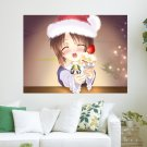Christmas Cake For You  Art Poster Print  24x18 inch
