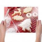 Christmas Cookies  Art Poster Print  24x18 inch
