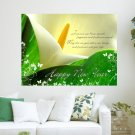 New Year Message  Art Poster Print  24x18 inch
