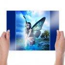 Beautiful Hd Butterflies  Art Poster Print  24x18 inch