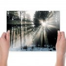 Sunshine On The Snow  Art Poster Print  24x18 inch